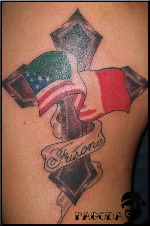 italian american tatoos with cross - Google Search | Maybe ...