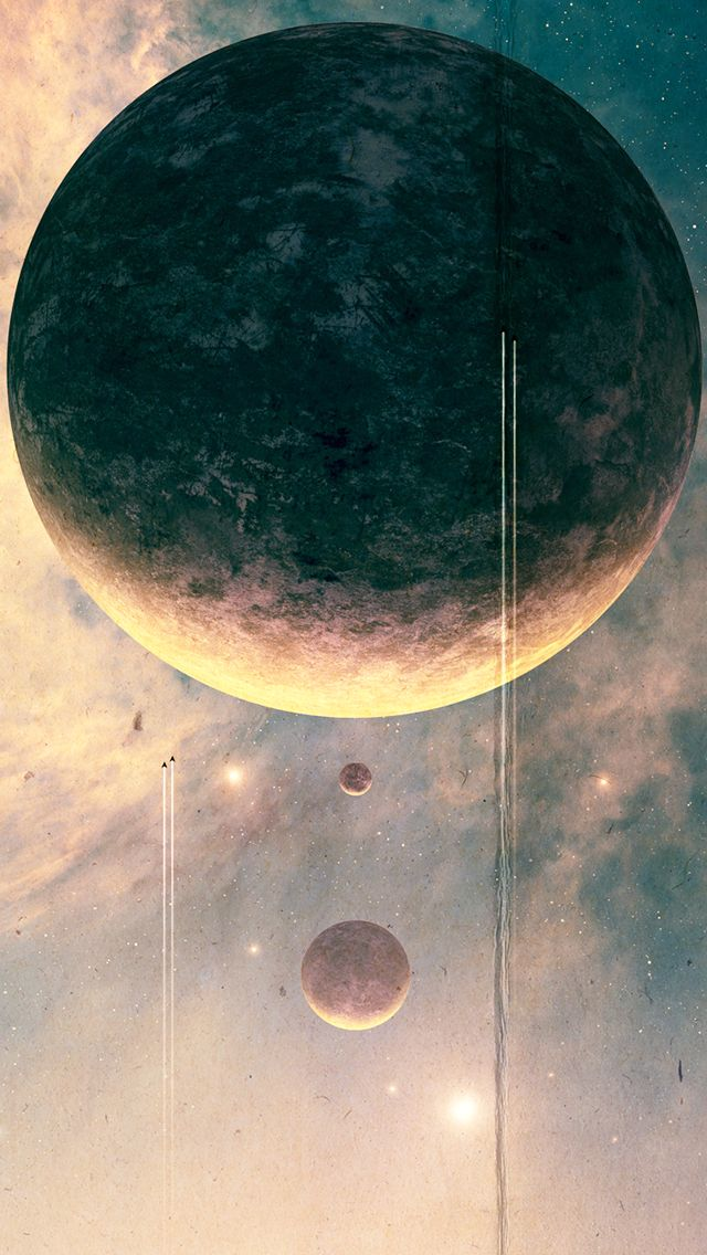 Iphone Wallpapers – JoeJesus Josef Barton Moon Fantasy Outer Space #iPhone #5s #Wallpaper