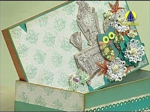 Vida com Arte | Caixa de MDF com Scrapdecor por Silvia Guirau - 09 de Ju...