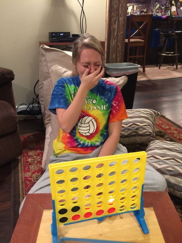 My Drunk Girlfriend Was Really Upset About Losing In Connect Four
