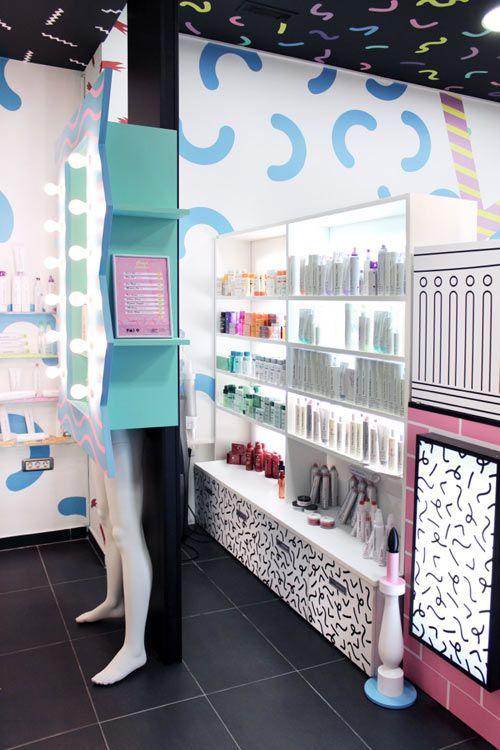 80s Style Hair Salons in Slovenia by Kitsch-Nitsch - Design Milk
