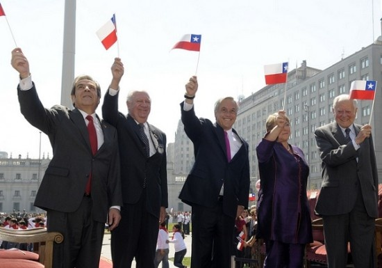 Ultimos 5 presidentes de Chile