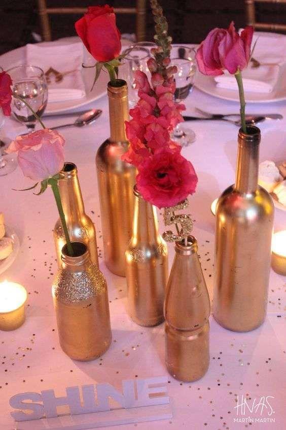 ideas para decorar botellas y copas en 15 años (3)