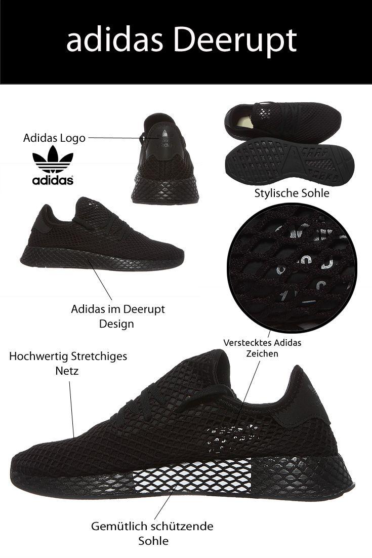 adidas Originals Herren Laufschuhe Deerupt Runner Schwarz