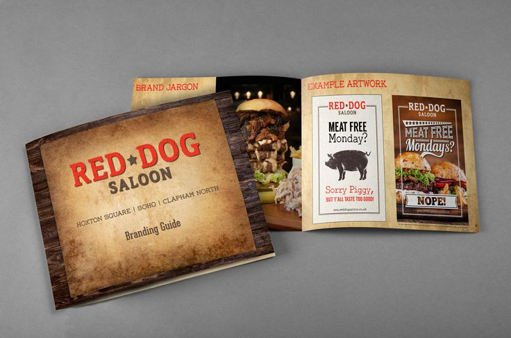 Red Dog Saloon branding guide