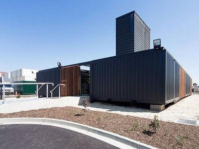 Shipping container company builds its offices out of .... shipping containers