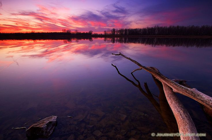 As The Sun Sets At Desoto Bend National Wildlife Refuge The Sky