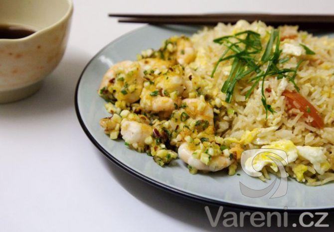 Pekingská rýže s krevetami