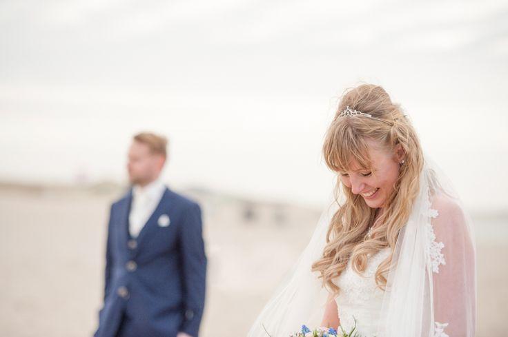 Wedding photography, veil, sluier, strand, beach,#WeddingPhotography, #DenHaag, Kijkduin, Nederland, bruidsfotograaf, trouwfotografie   www.witfoto.nl   Wit Photography | Wedding photography Den Haag: Nathalie + Rick