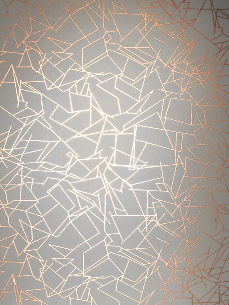 Angles Wallpaper - Copper Rose White | Monument Interiors