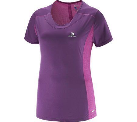 Women's Salomon Agile SS Tee – Cosmic Purple Short Sleeve Shirts