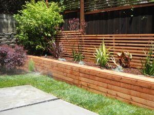 Love the concrete slabs and planters around perimeter