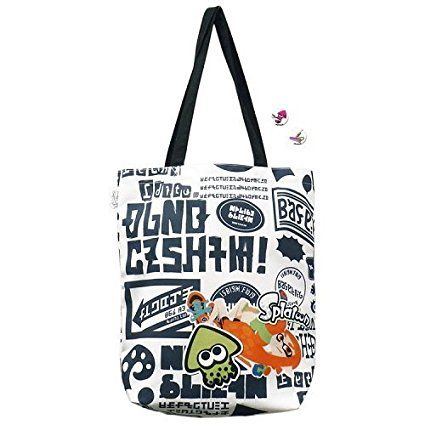 "Splatoon Tote Bag with "" IKASU Can Badges "" Graphity"