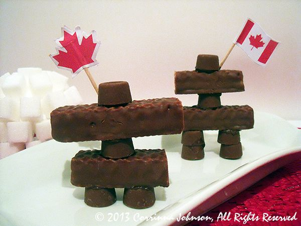 Inukshuk Candy Treats For Canada Day (not meant to demean or belittle native culture for a chintzy holiday. Meant to embrace all cultures that make Canada the country I love)