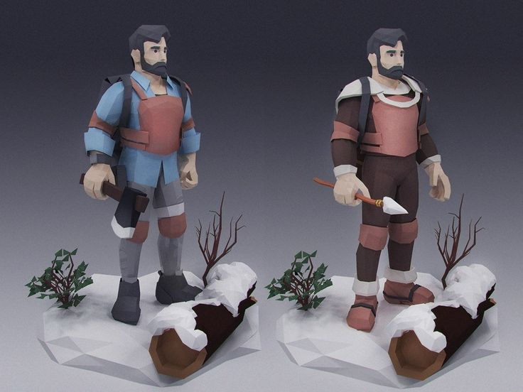 One of survivors in our game The Wild Eight : lowpoly