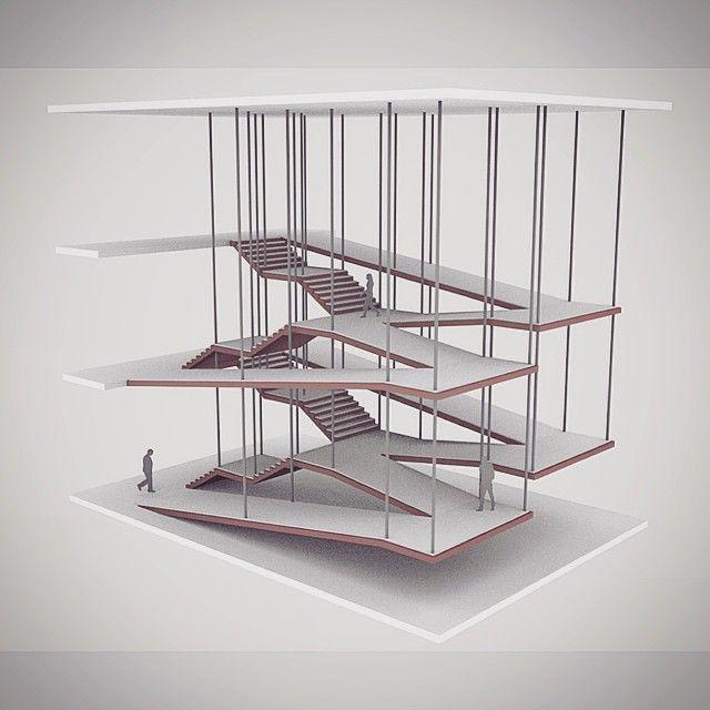 nexttoparchitects: by @pegorin #next_top_architects Escada/Rampa