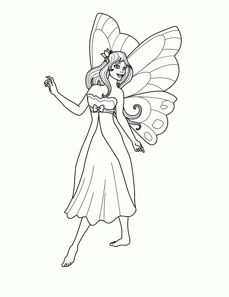 Dashing image intended for free printable fairy coloring pages