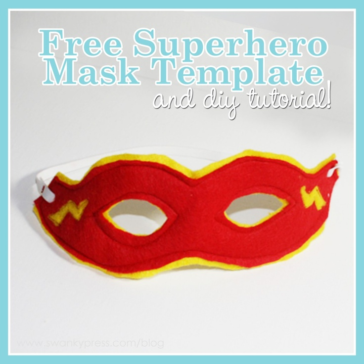 diy superhero mask -- Looks amazing, but also looks like actual work, since sewing is involved!  Maybe I'll make one for Spawn #1, and the party guests can have the 'no sew' version.