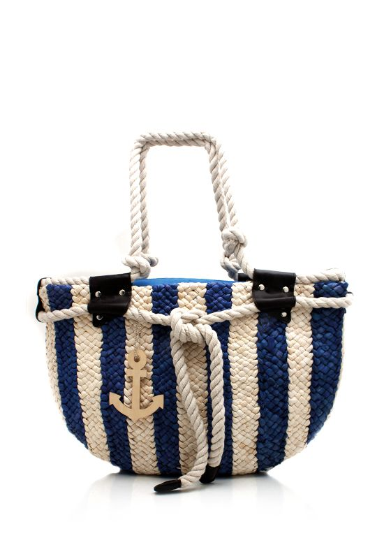 striped woven tote bag $29.90