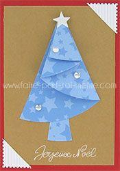 Carte de Noël - Sapin bleu