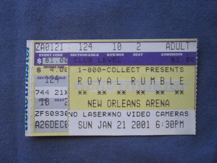 WWF Royal Rumble, New Orleans Arena, 1/21/2001, 81.00