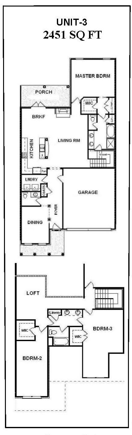 3 bedroom townhouse plans with garage bill beazley for Townhouse layout 3 bedrooms