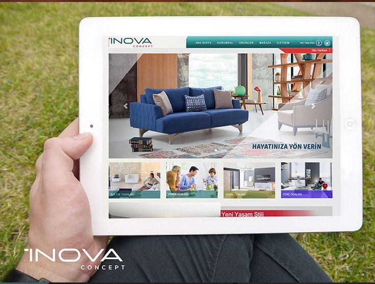 İnova Concept Mobil Uyuml Yönetim Panelli Web Site Tasarımı