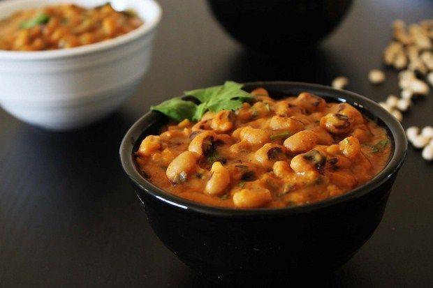 Black eyed peas Curry Gujarati style -- this vegan black-eyed pea ...