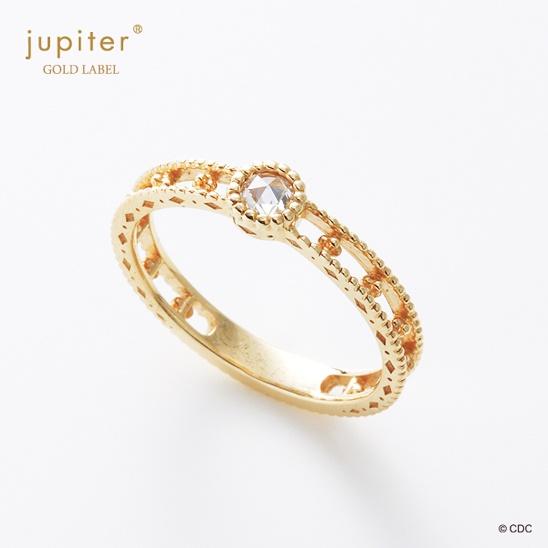 【梨花×jupiter】ローズカットダイヤリング 11号[即納]