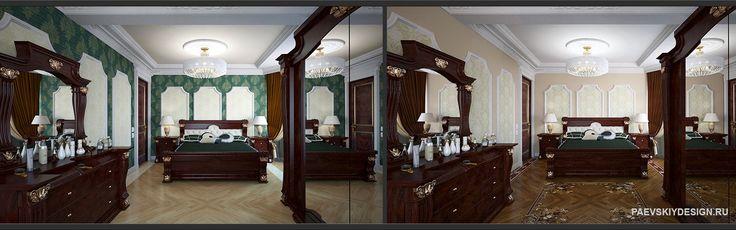 Классическая спальня в квартире