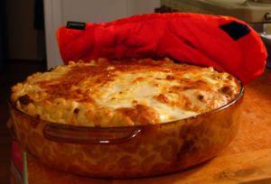 Finnish macaroni casserole