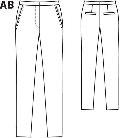 BS 02-2012. #129. cigarette pants. stretch fabrics. 36-44.