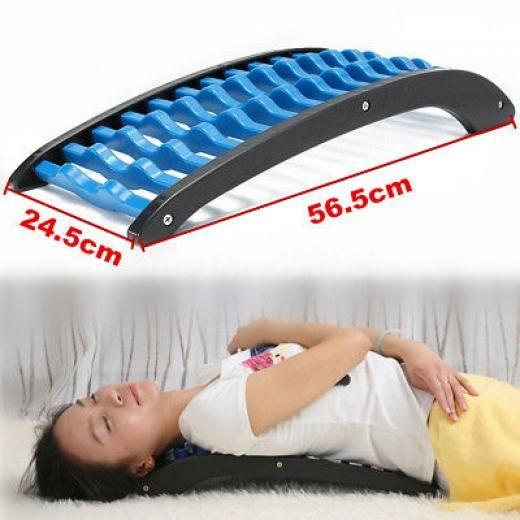 Abs Back Stretcher Massage Massager Lumbar Support Waist Spine Pain Relief Relax Scratcher Sku665960 Shiatsu & Traction