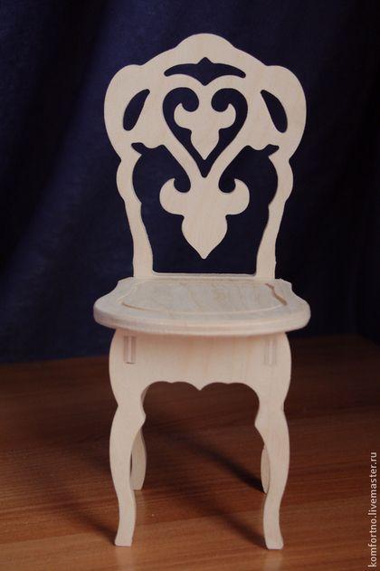 Кукольный стульчик.Заготовка для декупажа и росписи.202