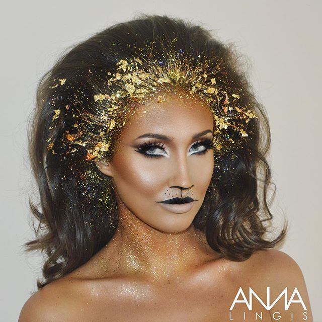 www.throwbackannie.com discount code: PINTEREST ! ✨ All we can say is MEOW ultimate glam look on @megan_mckenna_ wearing Megan McKenna TOWIE The Only Way Is Essex star with beaut make up style make up ideas for halloween costumes and fancy dress costumes lioness make up lion make up inspiration super cute make up celebrity news and celebrity style fashion style