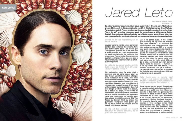 Raise Magazine Issue #14 with Jared Leto #JaredLeto