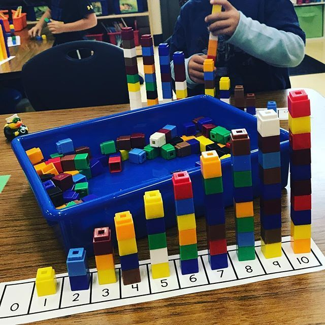 Number towers + great math conversation = the understanding that each number is 1 more than the previous number. 1️⃣2️⃣3️⃣ #mathinpractice #mathematicalthinkers #numbertowers #onemore