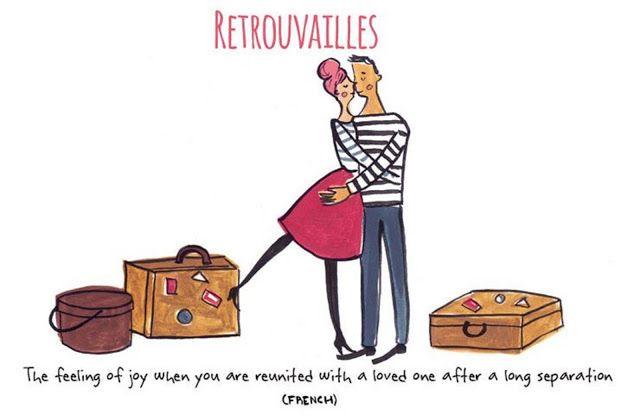26 de setembro de 2015 Retrouvailles: O sentimento de alegria quando você se reencontra com alguém que ama após uma longa separação. P A T C H W O R K *d a s* I D E I A S