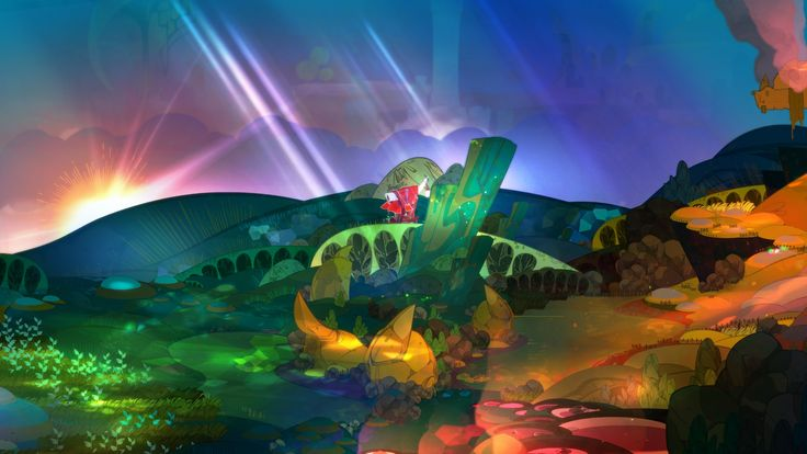 Review: Pyre: Adventure stories sprinkled with apocalyptic hope, enveloped in beautiful art and music with an innovative gameplay…