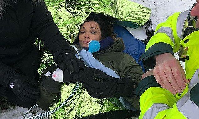 Doctor Who actress Sarah Parish shatters her leg using sledge