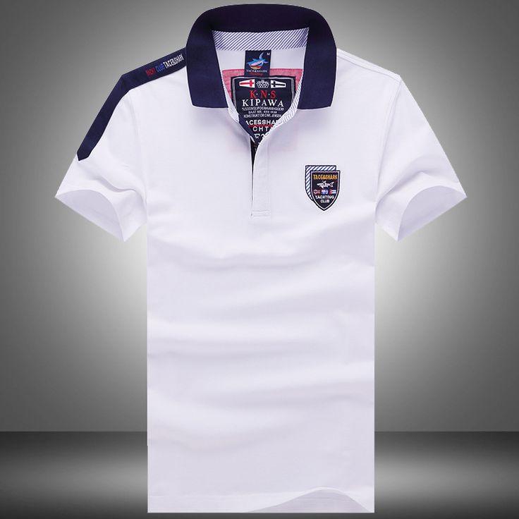 Free shipping Paul cotton t-shirt men t-shirt men's business casual striped  short