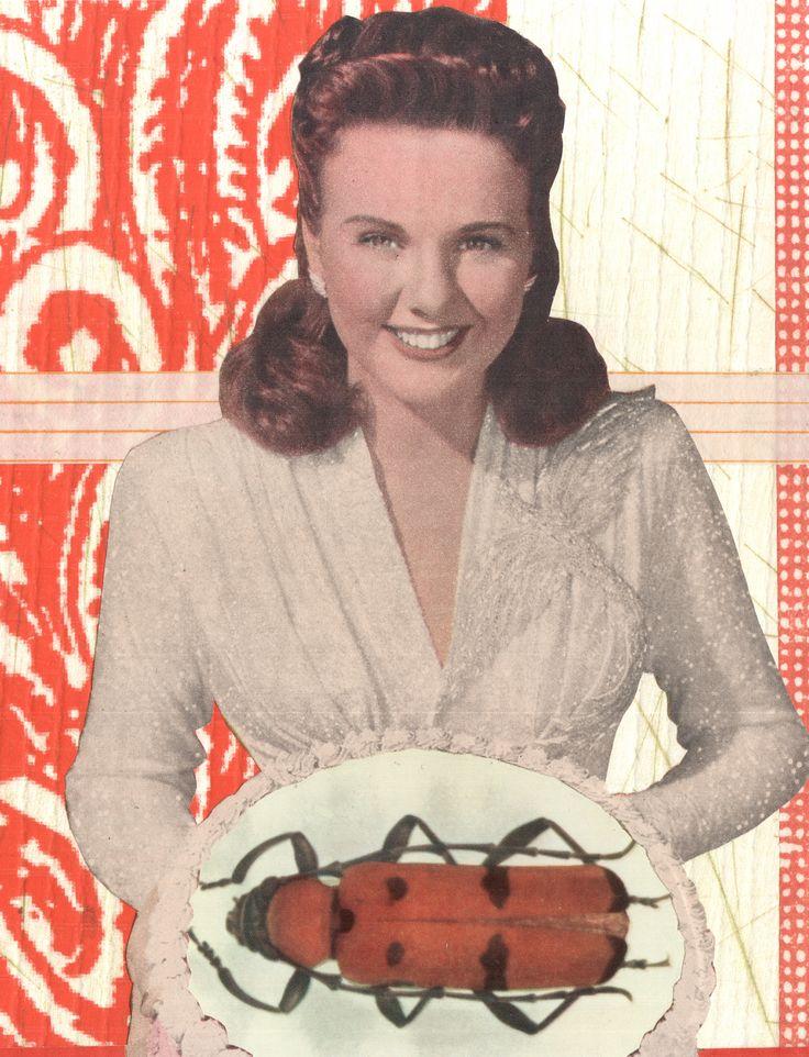 Gluten-free : mixed media collage, monoprint, vintage ephemera.