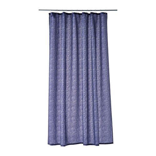 IKEA - GUDINGEN, Douchegordijn, Dichtgeweven polyester met waterafstotende laag.</t><t>Het ingenaaide elastiek in de onderrand geeft gewicht, waardoor het gordijn recht hangt.