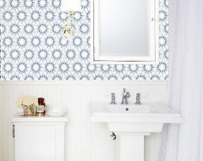 Removable Wallpaper Peel Stick Wallpaper Self Adhesive Etsy Removable Wallpaper Peel And Stick Wallpaper Bathroom Design