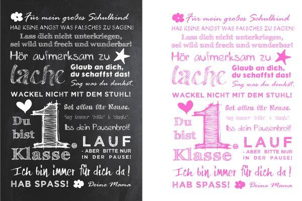 Poster BOTSCHAFT FÜR MEIN SCHULKIND