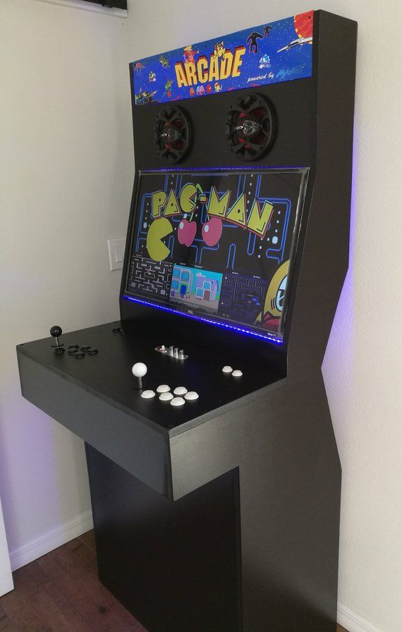 Slim Arcade Machine Cabinet With Thousands Of Retro Games Etsy
