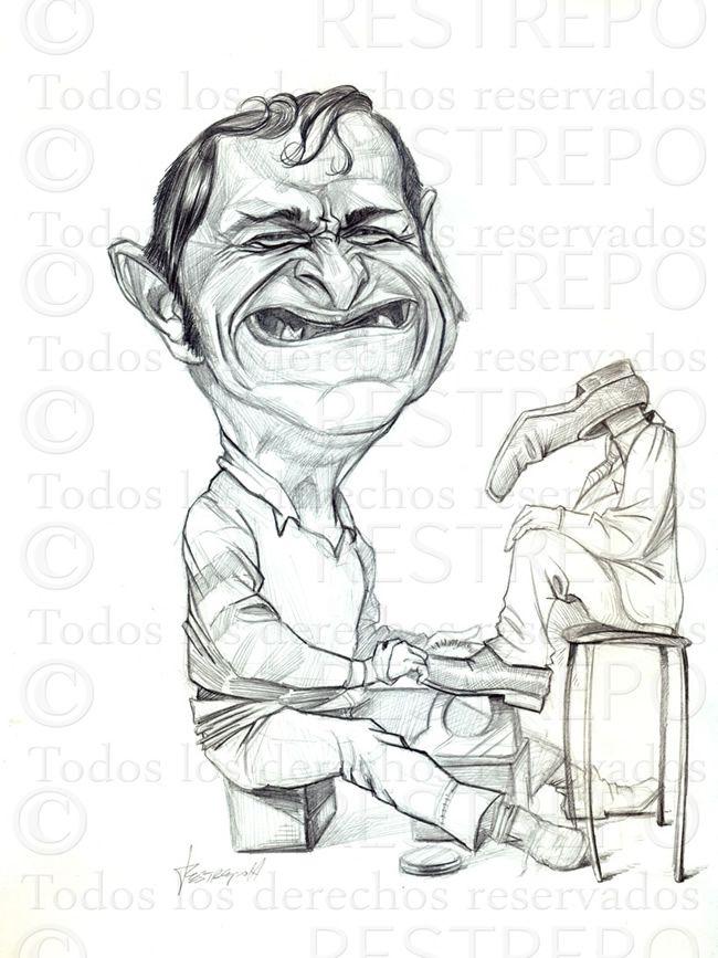 caricaturas de Jorge Restrepo, ilustradores colombianos, ilustracion de Heriberto de la Calle, el embolador.