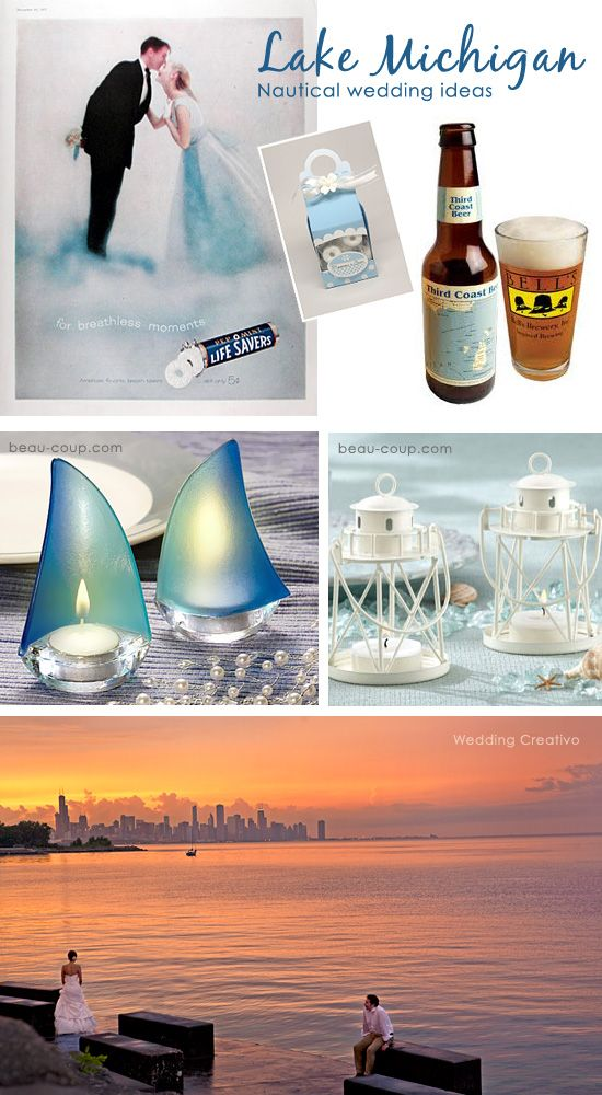 Chicago Small Wedding Inspiration: Lake Michigan nautical wedding theme