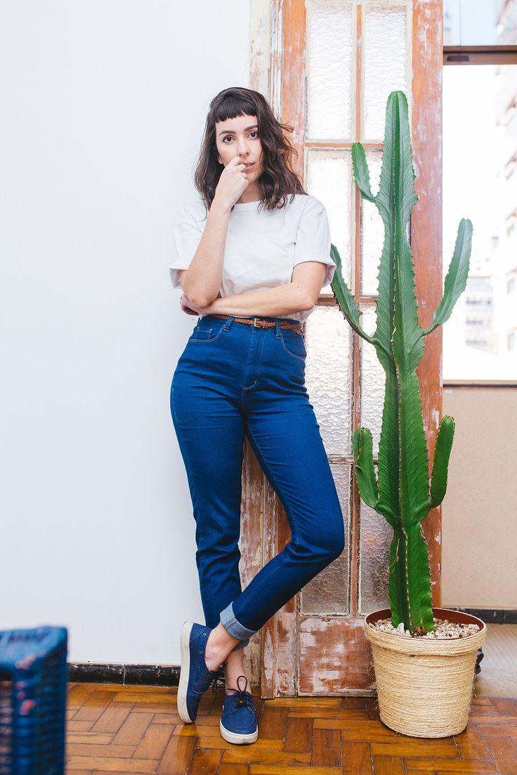 look do dia, dockside feminino, como usar, jeans, casual, basic, casa                                                                                                                                                                                 Mais