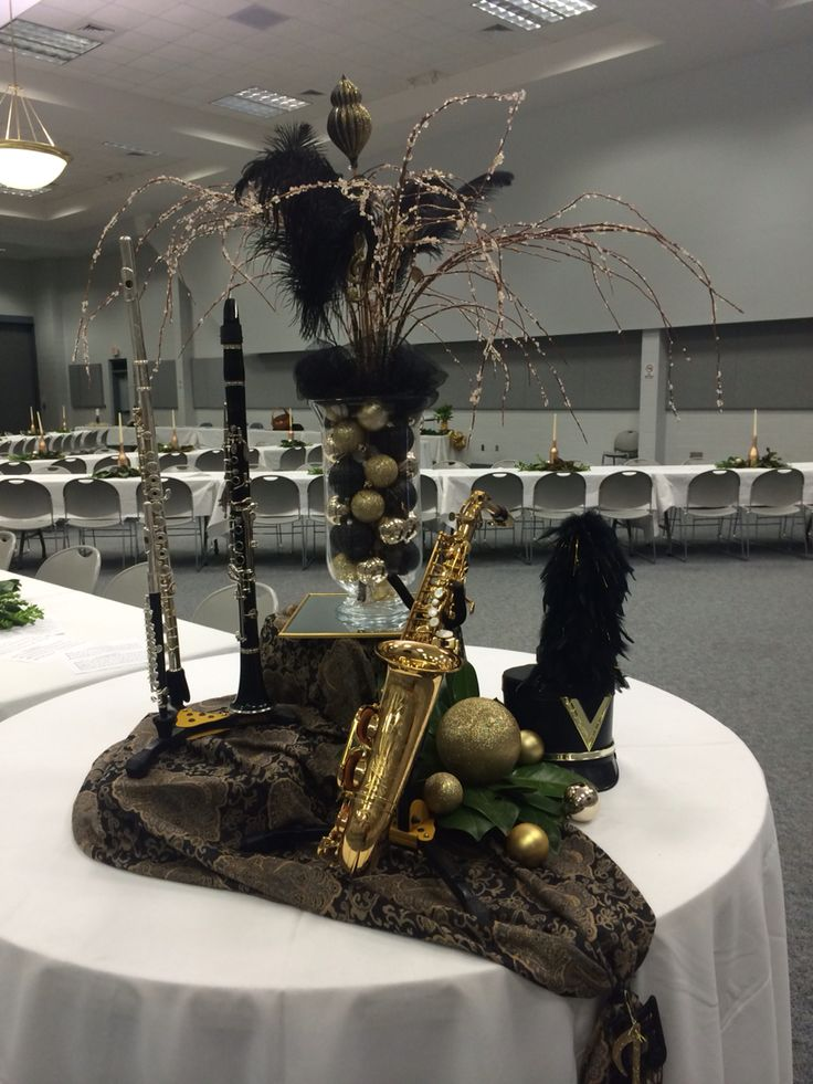 Instrument centerpieces band banquet